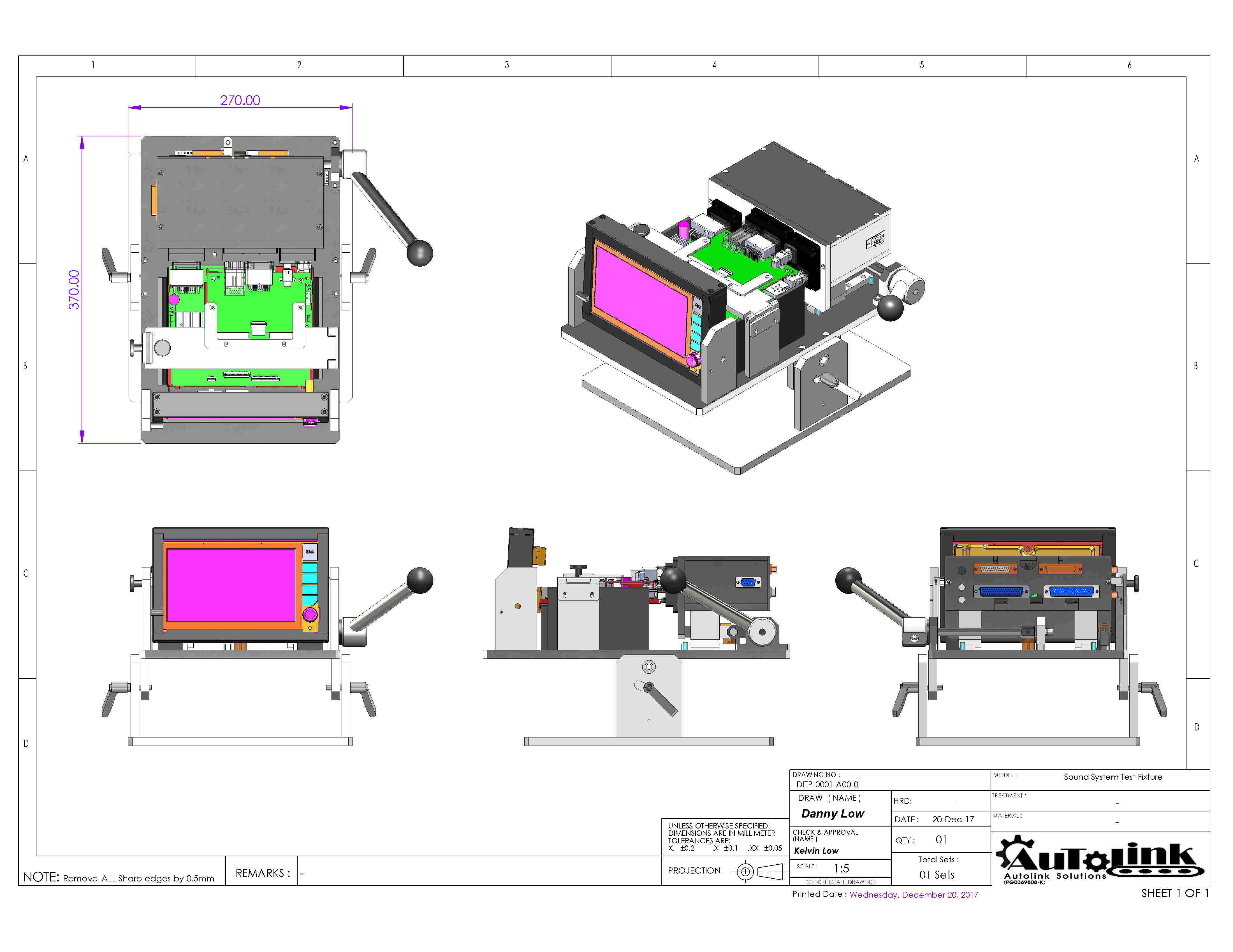 Sound System Test Fixture - AutoLink Solution